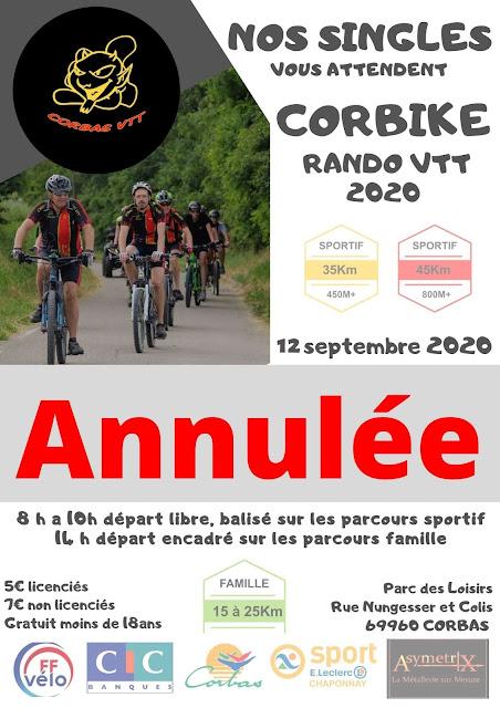 Annulation Corbike VTT 2020