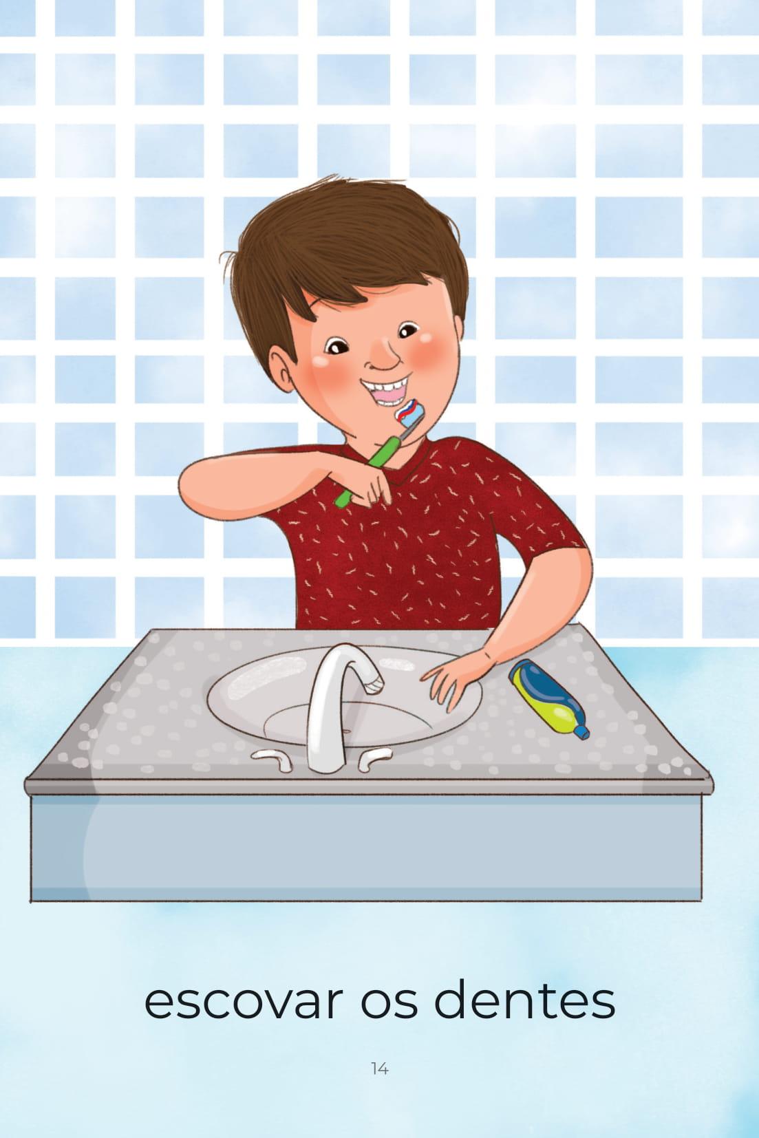 Atividades do Dia a Dia Escovar os Dentes