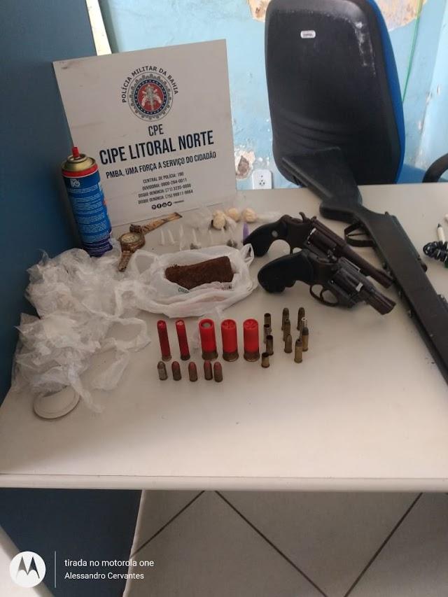 Dois suspeitos são mortos e três armas são apreendidas durante ação na localidade do São José do Itaporã em Muritiba