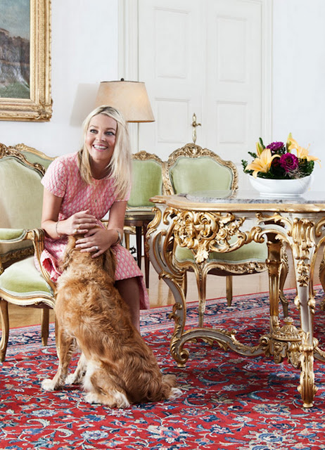"""Gilded"" inspirations : at home with Sandra Countess Bernadotte 