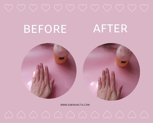 before after pemakaian body lotion scarlett