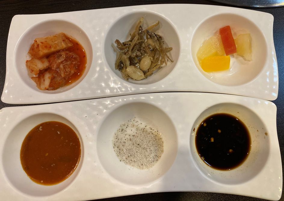 Banchan at All4U Unlimited Grill & Shabu Shabu