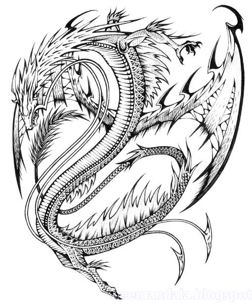 mandala malvorlagen drachen | drachen malvorlagen