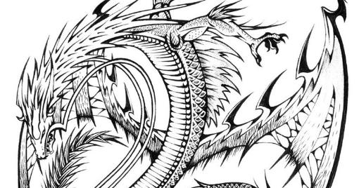 ausmalbilder für erwachsene drachen