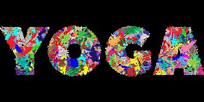 yoga logo with flowers