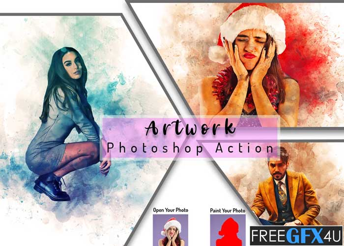 Artwork Photoshop Action