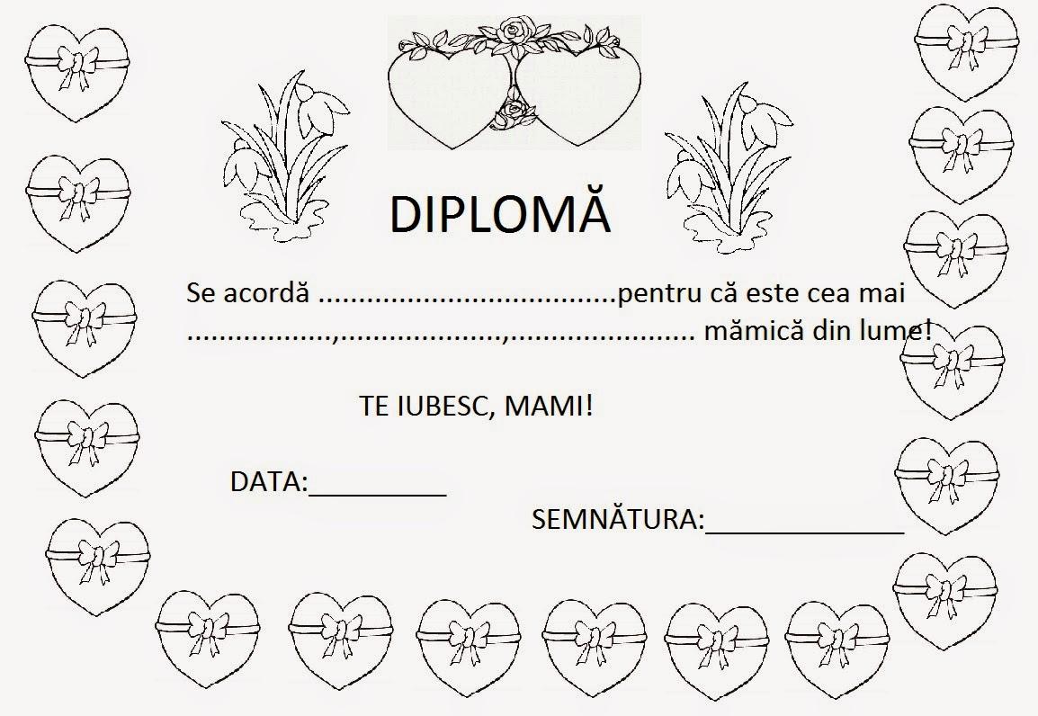 Diplome 8 Martie Pentru Mame De Colorat