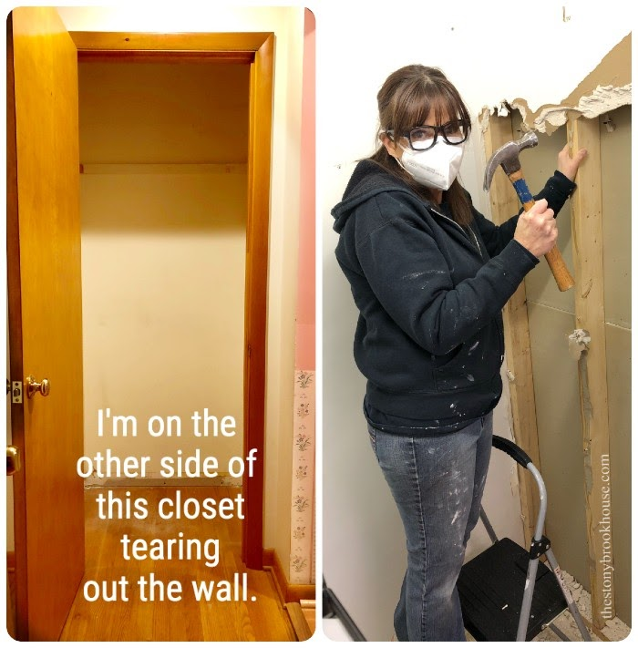 Taking out closet wall