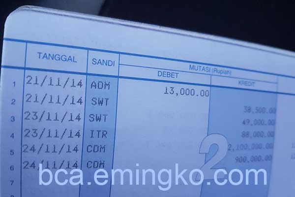 Biaya Admin Bulanan Tabungan Tahapan BCA