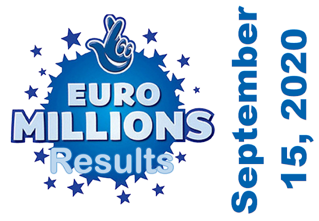 EuroMillions Results for Tuesday, September 15, 2020