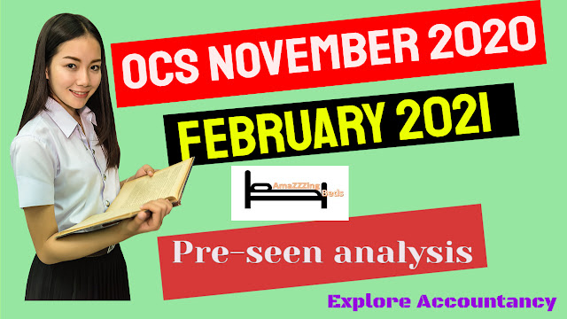 OCS November 2020 & February 2021 - CIMA Operational case study  - Pre-seen video analysis - Amazing Beds