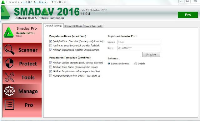 Smadav Pro Rev 11.0.4 Full Serial Number Nama dan Key Terbaru