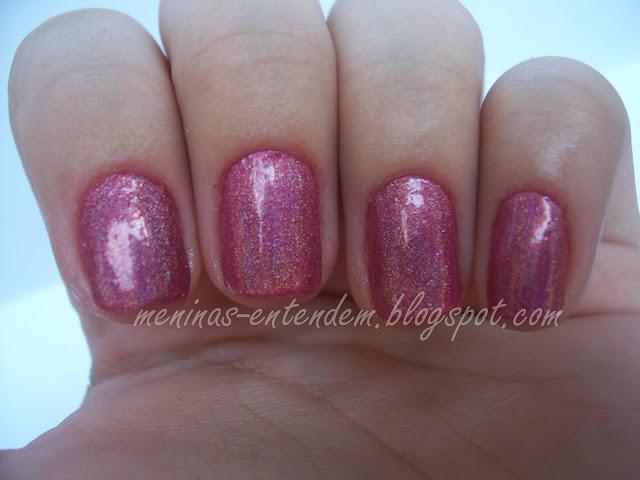 holográfico rosa