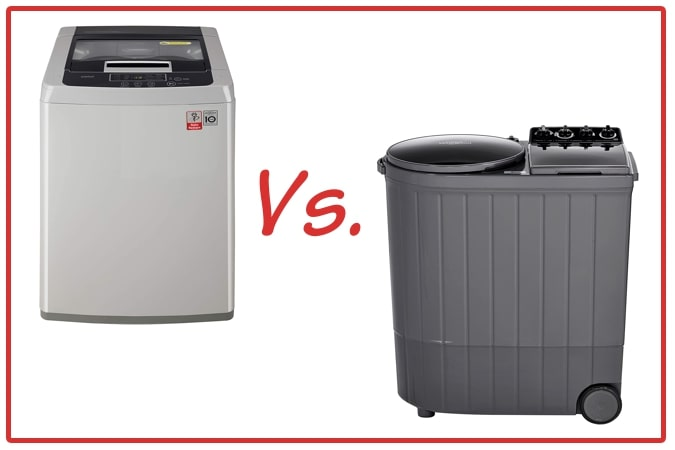 LG T7585NDDLGA (left) and Whirlpool ACE XL (right) Washing Machine Comparison.
