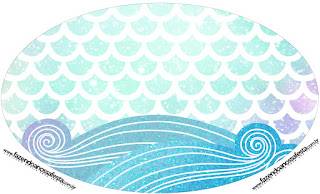 Mermaid: Free Printable Cupcake Toppers or Labels.