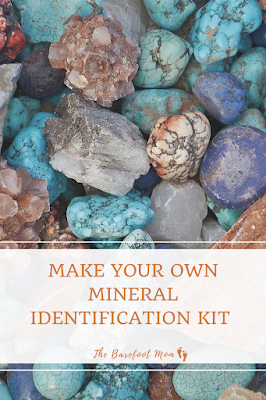 Instructions for making a simple rock and mineral Identification kit with materials you likely already have at home, plus instructions for using it to identify your rock and mineral finds!