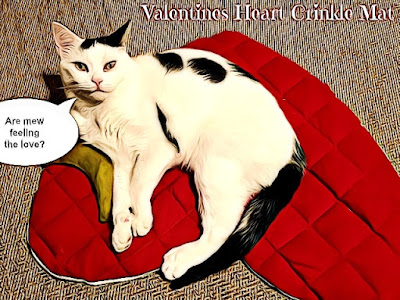 Crafting with Cats @BionicBasil® Valentine Heart Crinkle Mat Smoochie