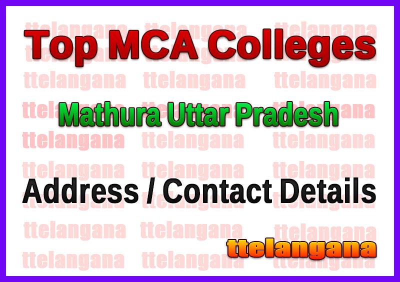 Top MCA Colleges in Mathura Uttar Pradesh