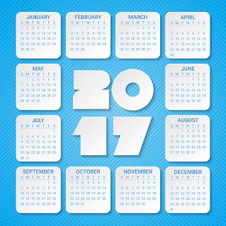 2017カレンダー無料テンプレート144