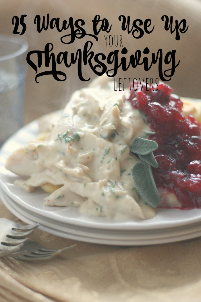25 Ways to Use Up your Thanksgiving Leftovers!
