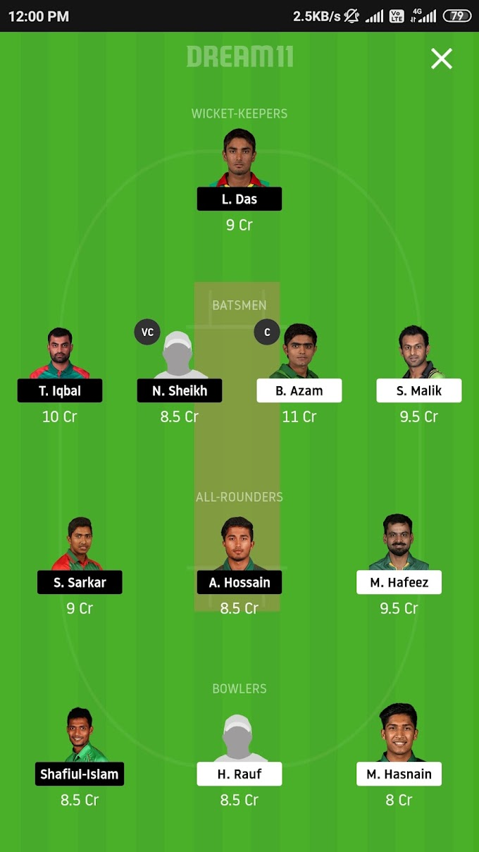 Bangladesh VS Pakistan 2nd T20 Dream 11 Prediction | Who is the best C in Dream 11?