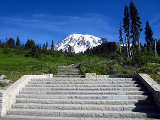 Mount Rainier as seen from the Paradise Trailhead.