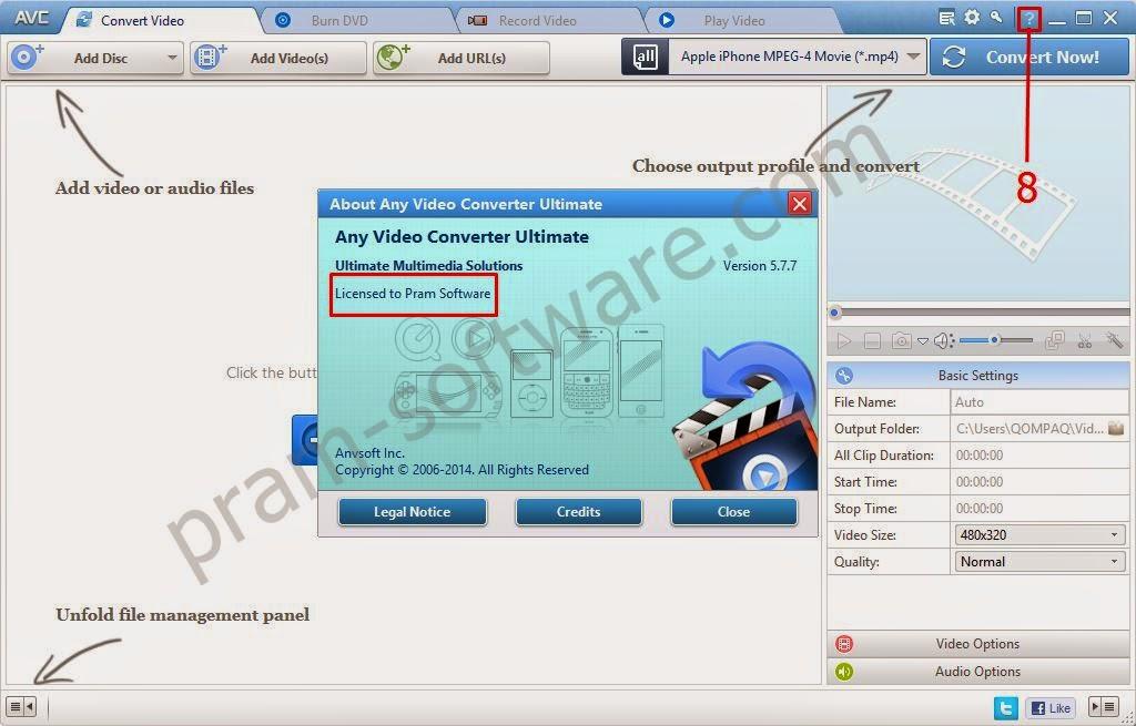 Bukti Registrasi Any Video Converter Ultimate dengan Nama Sendiri