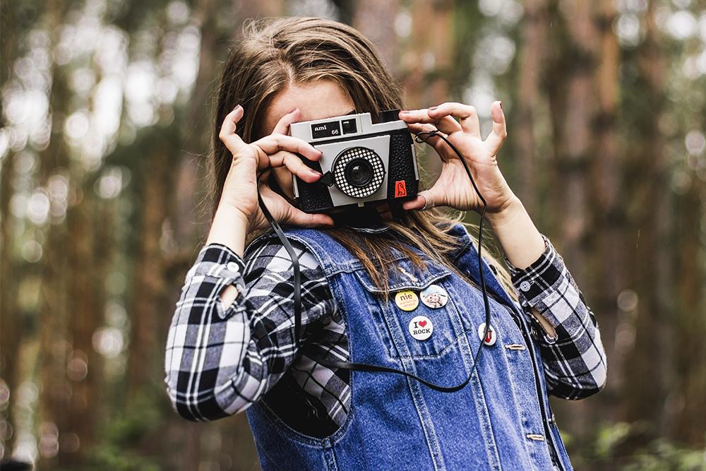 dziewczyna, aparat, ami 66