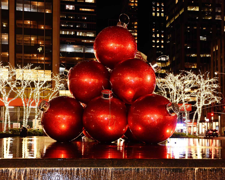 NY City Christmas Decorations Ornaments