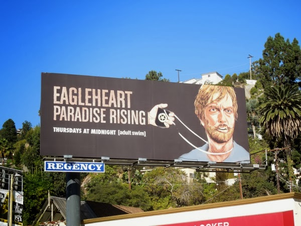 Eagleheart Paradise Rising 3 Adult Swim billboard