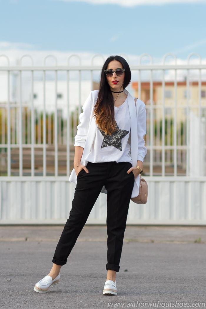 Blazer Estilo Fratelli Look Blancos Mocasines Cómodo Rossetti Con 0Zqn74qU