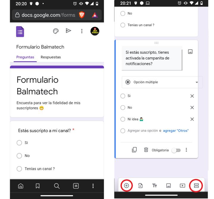 Creando un formulario desde Google Forms