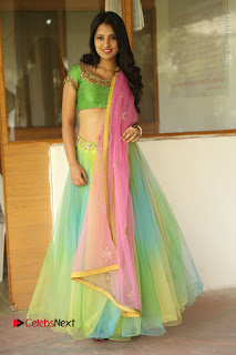 Actress Nikitha Bisht Stills in Lehenga Choli at Pochampally Ikat Art Mela Launch  0374.JPG