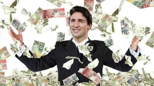 Image result for justin trudeau money