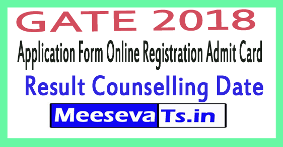 Graduate Aptitude Test in Engineering GATE Application Form Online Registration Admit Card Result Counselling Date 2018