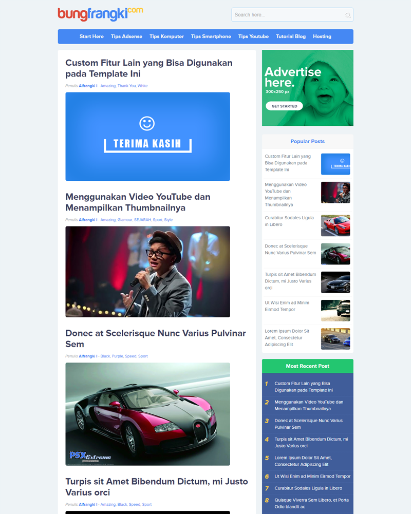 Noname - Premium Mobile Friendly, Responsive and SEO Friendly Blogger Template