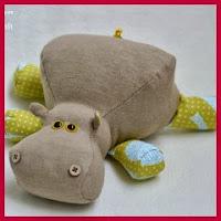 Hipopótamo en tela