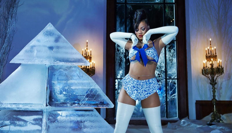 Rihanna stars in Savage x Fenty Holiday 2020 lingerie campaign.