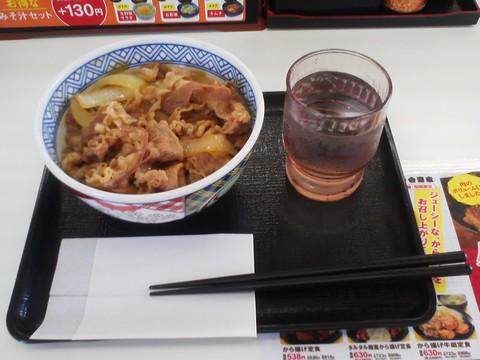 牛丼(並盛)¥380-1 吉野家258号線大垣店