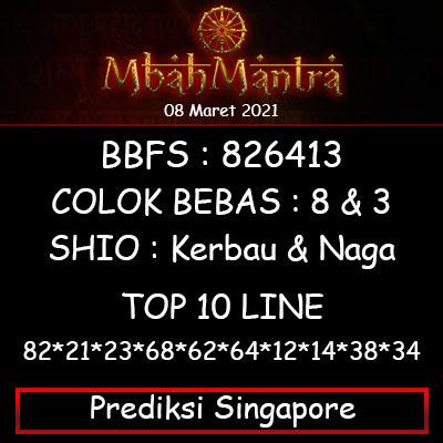 Prediksi Angka Singapore 08 Maret 2021