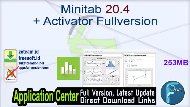 Minitab 20.4 + Activator Fullversion