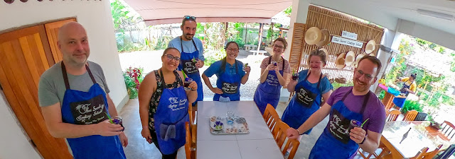 Thai Secret Cooking Class Enjoying Some Butterfly Flower Ice Tea. 19 March 2020