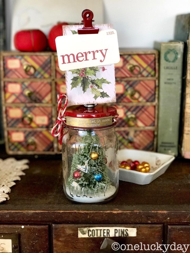 One Lucky Day Mini Mason Jar Christmas