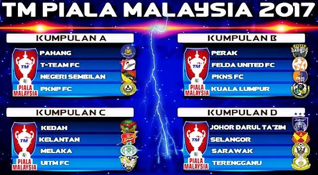 Jadual Perlawanan TM Piala Malaysia 2017