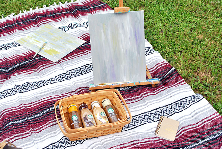 Have a blast and drink some java with your bestie or your boyfriend with this super fun Starbucks Picnic & Paired Painting!