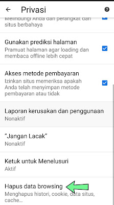 Cara Menghapus history chrome android