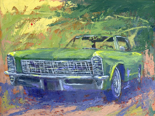 art painting automotive classic car buick riviera