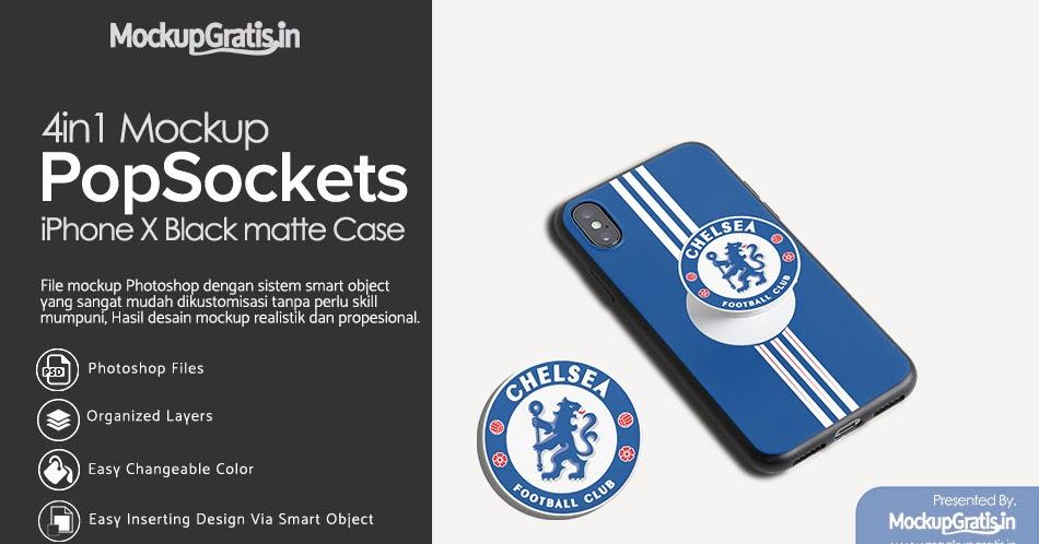 4in1 Mockup Black Matte Case Iphone X With Matching Popsockets Mockupgratis In Download Psd Mockup Gratis