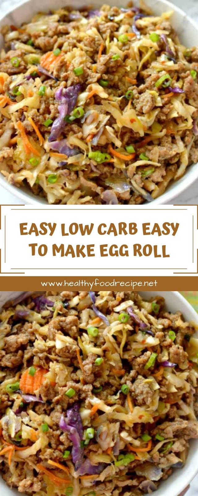 EASY LOW CARB EASY TO MAKE EGG ROLL