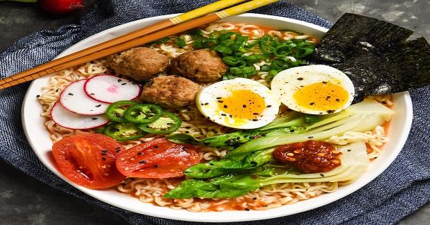 Miso - Tomato Ramen With Meatballs Recipe